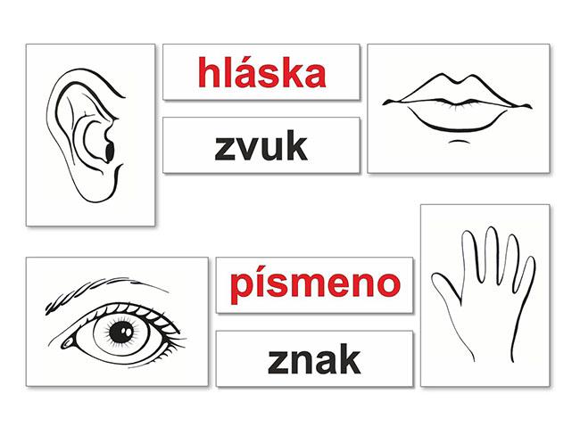 sada magnetických obrázkova pre spznávanie delenia hlások