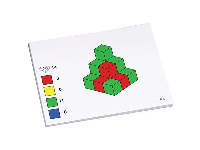 pracovne karty ku farebným dreveným kockám na vyuku matematiky