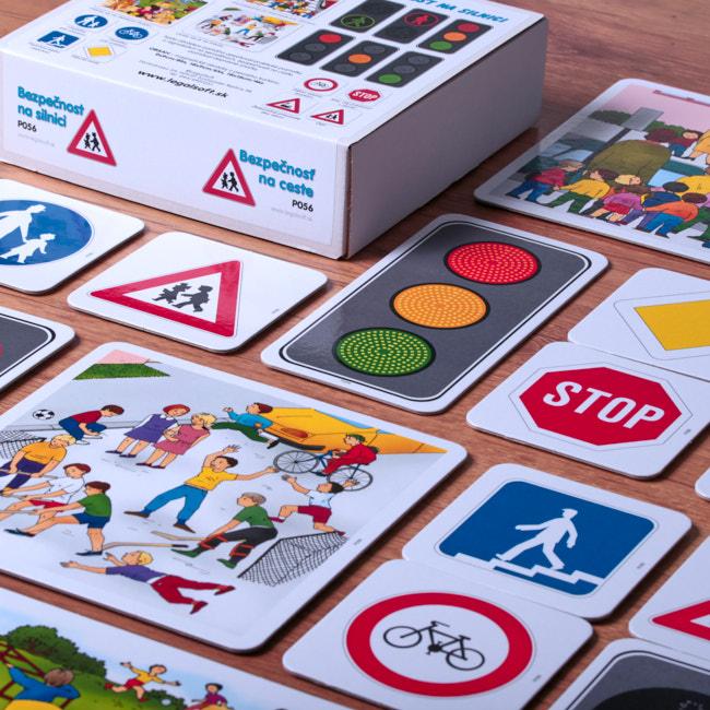 magneticke karty na vyuku temy doprava a bezpecnost na ceste pre skoly